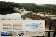 De dam van Warragamba Stock Afbeelding