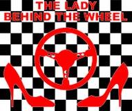 De dame achter het wiel Stock Foto
