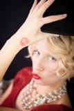 De dame die van de pret kussen verzenden Royalty-vrije Stock Foto's