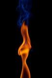De Dame van de brand Stock Foto's