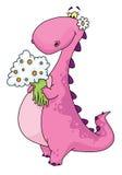 De dame van de dinosaurus Stock Foto