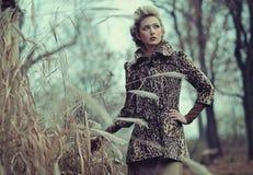 De dame van de herfst Stock Foto's