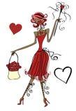 De Dame van de liefde stock illustratie