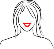De Dame van de lijn vector illustratie