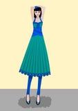De Dame van de manier vector illustratie
