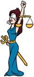 De Dame van de rechtvaardigheid stock illustratie