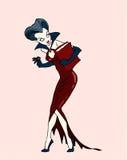 De dame van de vampier Stock Foto