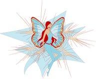De dame van de vlinder Royalty-vrije Stock Afbeeldingen