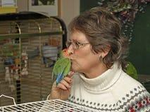 De dame van de vogel Stock Afbeelding