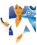 De dame van het bureau stock illustratie