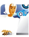 De dame van het bureau bij laptop Royalty-vrije Stock Foto