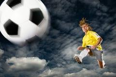 De dame van het voetbal royalty-vrije stock foto