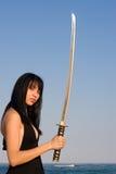 De Dame van het zwaard Royalty-vrije Stock Afbeeldingen