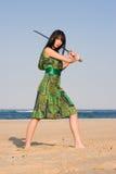 De Dame van het zwaard Royalty-vrije Stock Afbeelding
