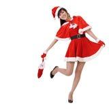 De dame van Kerstmis Stock Foto's
