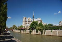 De dame van Notre - Parijs Stock Afbeeldingen