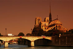 De damekathedraal van Parijs notre Royalty-vrije Stock Fotografie