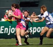 De dames pakken bij het Rugby Sevens van Doubai aan royalty-vrije stock afbeelding