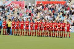 De dames van België. De Europese Kop Duitsland 2011 van het hockey Stock Foto