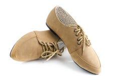 De dameschoenen van het leer stock afbeelding