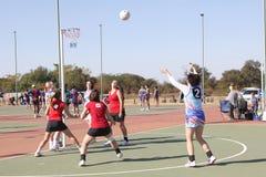 De Damesspelen van de Korfballliga stock foto's