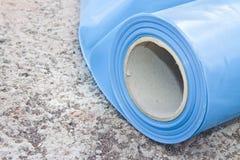 De dampbarri?re van de polyethyleenbescherming om de passage van damp van het hete deel van de structuur tot het koude deel van t stock foto's