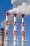 De dampen van de elektrische centrale Royalty-vrije Stock Fotografie