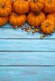 De dankzeggingsachtergrond van de de herfstpompoen Royalty-vrije Stock Foto