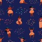 De dans naadloos patroon van Hawaï vector illustratie