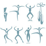 De dans stelt stock illustratie
