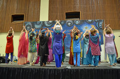 De dans van Bhangra Royalty-vrije Stock Foto