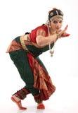 De dans van Bharatanatyam door de vrouw stock foto
