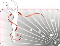 De dans van de ballerina Royalty-vrije Stock Afbeeldingen