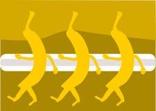 De dans van de banaan stock illustratie