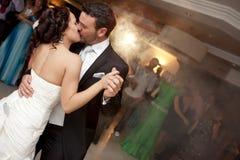 De dans van de bruid en van de bruidegom Stock Foto