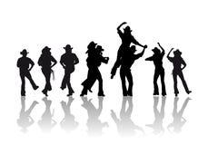 De dans van de cowboy royalty-vrije illustratie
