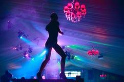 De dans van de disco royalty-vrije stock fotografie