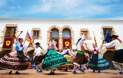 De dans van de folklore in Ibiza Spanje Europa Stock Afbeelding