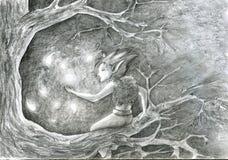 De dans van de glimworm - schets Stock Afbeelding