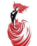 De dans van de hartstocht Royalty-vrije Stock Afbeelding