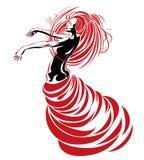De dans van de hartstocht Royalty-vrije Stock Afbeeldingen