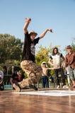 De dans van de kunstenaarsonderbreking Stock Foto