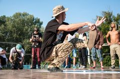 De dans van de kunstenaarsonderbreking Stock Afbeelding