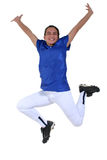 De Dans van de Overwinning van de aanbiddelijke Tiener stock foto's