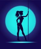 De dans van de striptease Stock Afbeelding