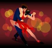 De dans van de tango Stock Fotografie