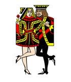 De Dans van de Tango van kaarten Stock Afbeeldingen