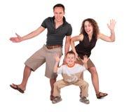 De dans van de vader, van de moeder en van de zoon stock foto