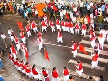 De Dans van de vlag Stock Afbeeldingen
