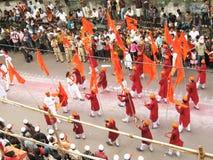 De Dans van de vlag Royalty-vrije Stock Fotografie
